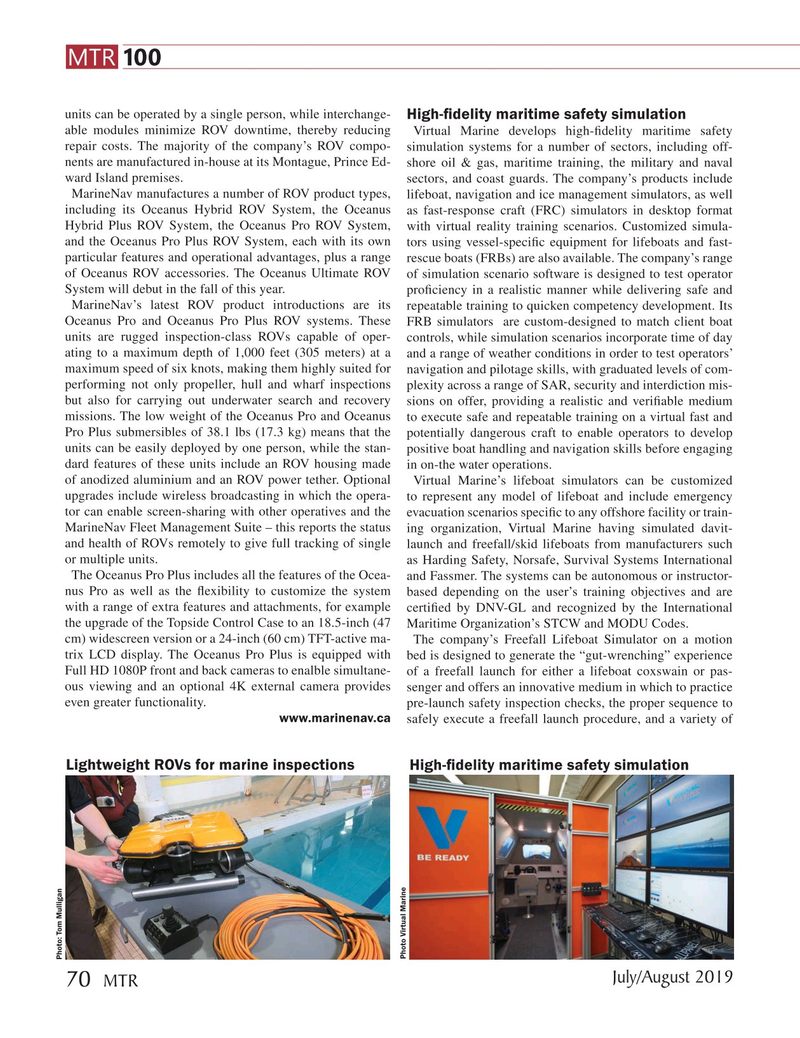 Marine Technology Magazine, page 70,  Jul 2019