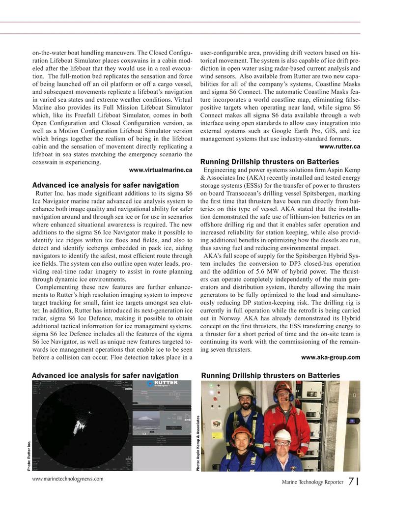 Marine Technology Magazine, page 71,  Jul 2019
