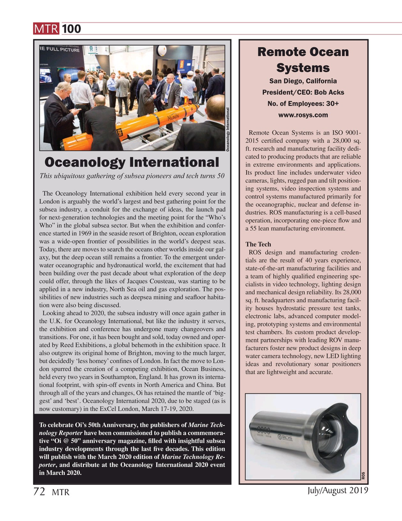Marine Technology Magazine, page 72,  Jul 2019