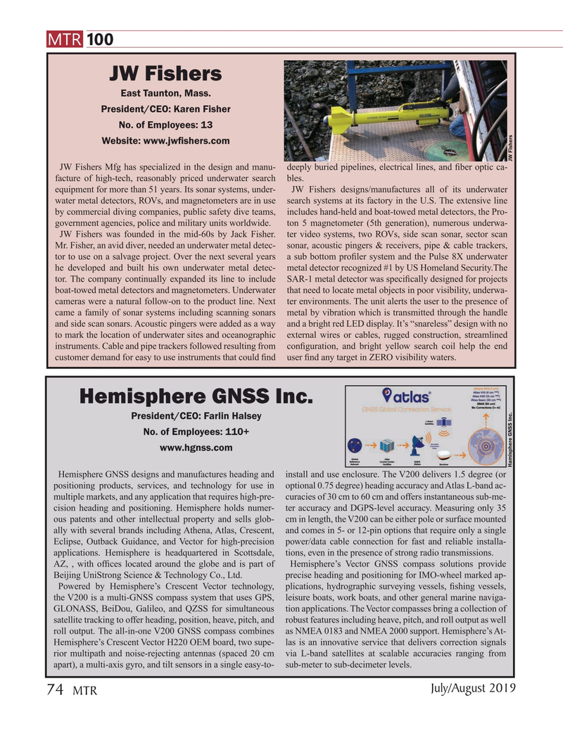 Marine Technology Magazine, page 74,  Jul 2019