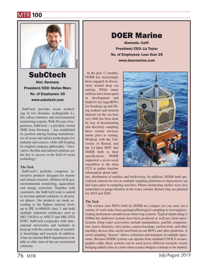 Marine Technology Magazine, page 76,  Jul 2019