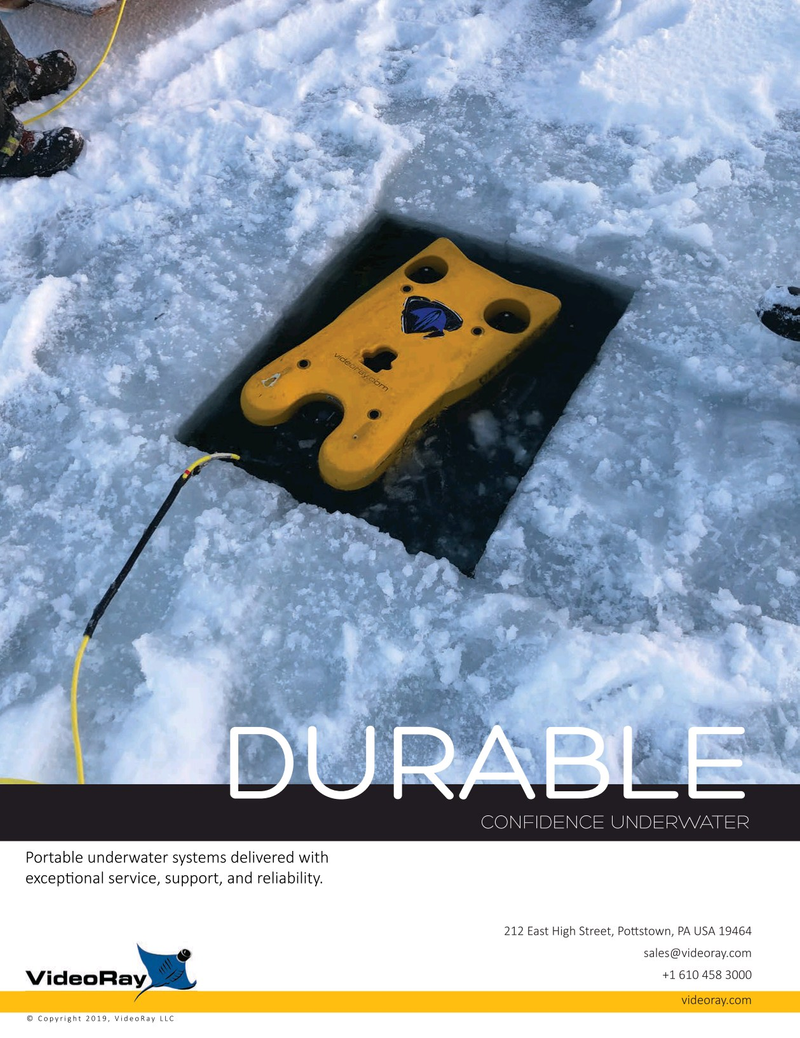 Marine Technology Magazine, page 2nd Cover,  Sep 2019