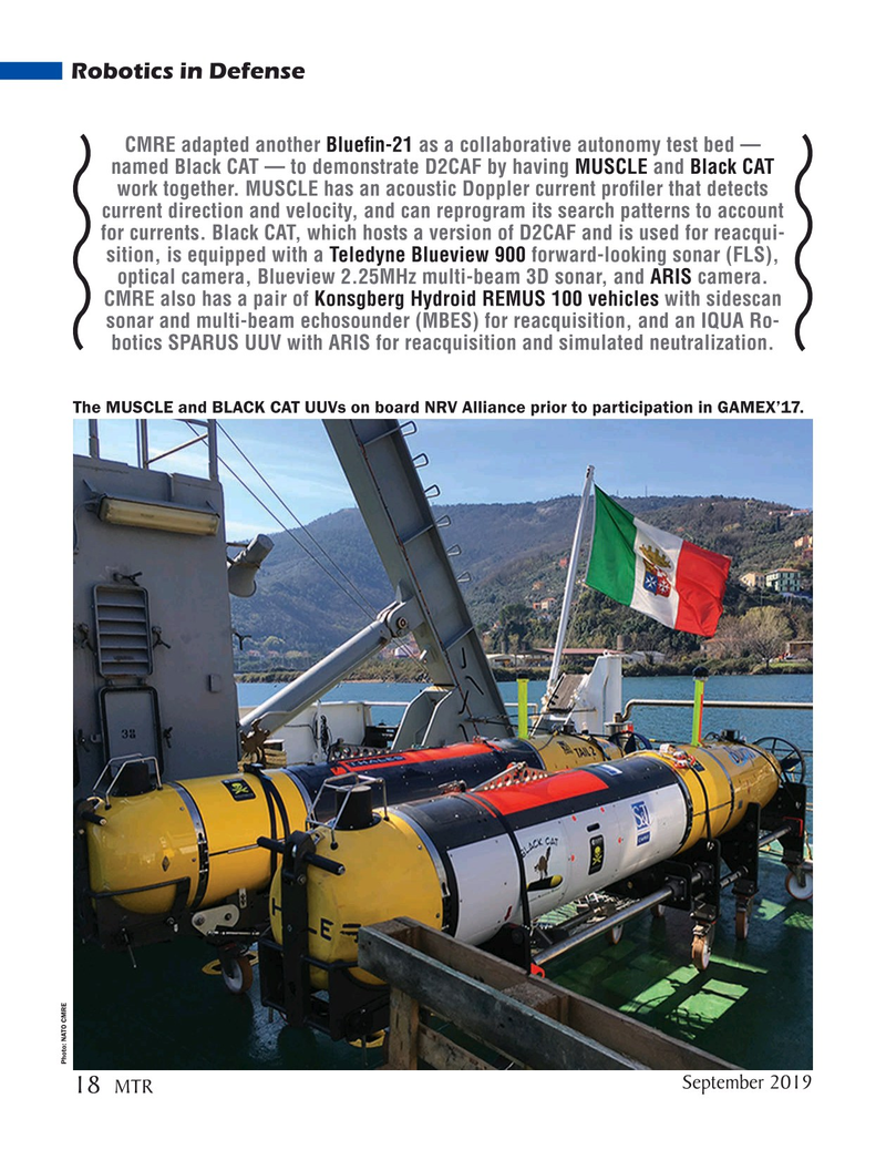 Marine Technology Magazine, page 18,  Sep 2019