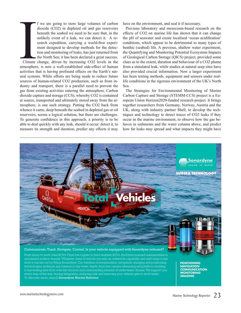Marine Technology Magazine, page 23,  Sep 2019