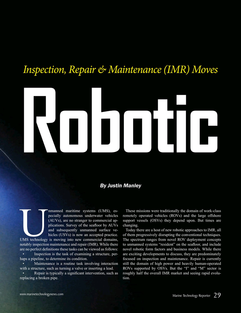 Marine Technology Magazine, page 29,  Sep 2019
