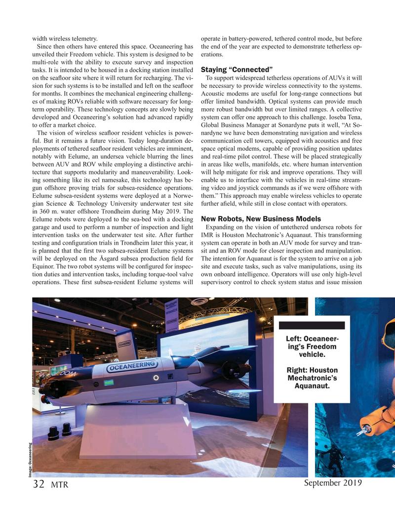 Marine Technology Magazine, page 32,  Sep 2019