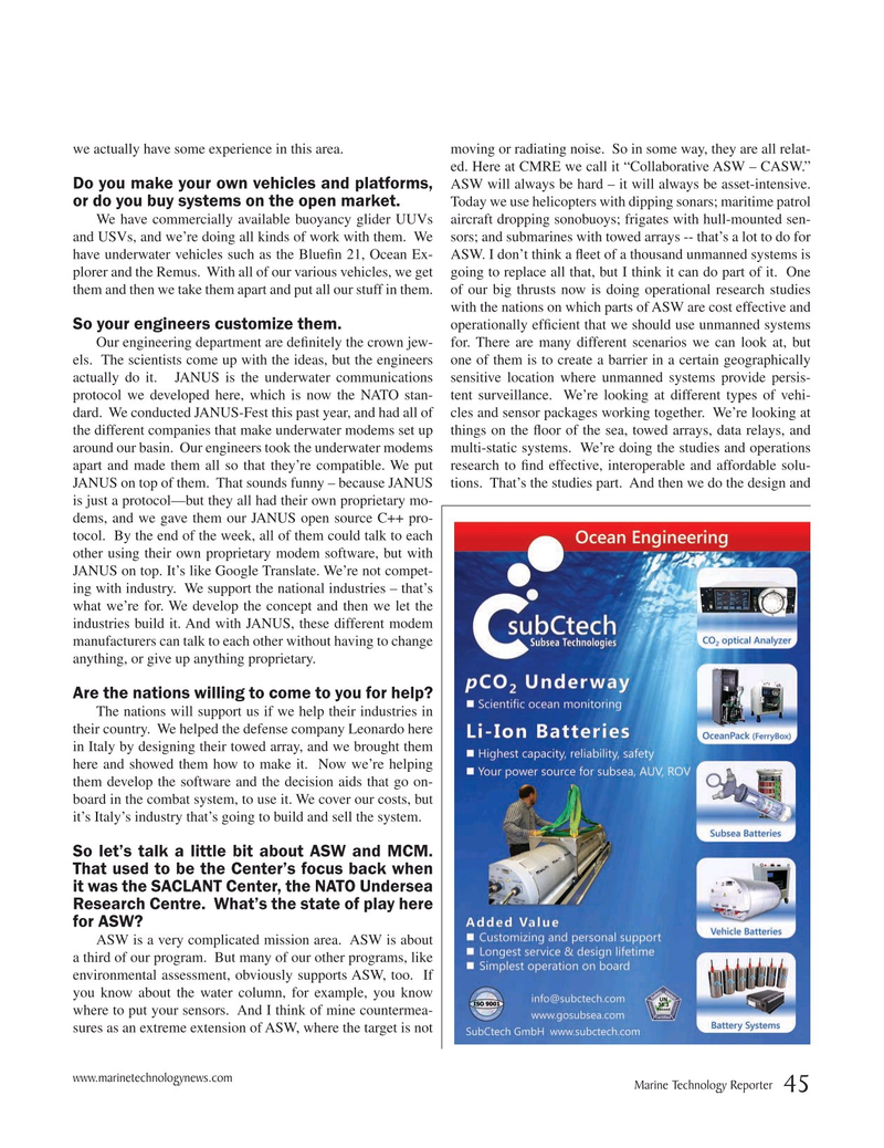 Marine Technology Magazine, page 45,  Sep 2019