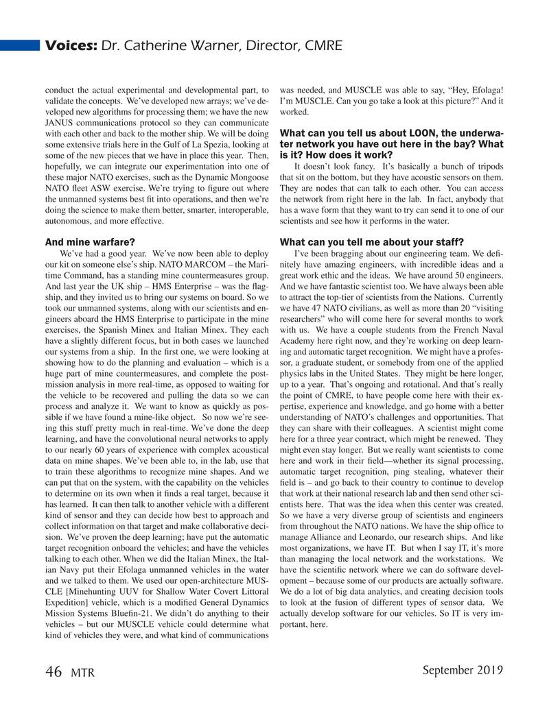 Marine Technology Magazine, page 46,  Sep 2019