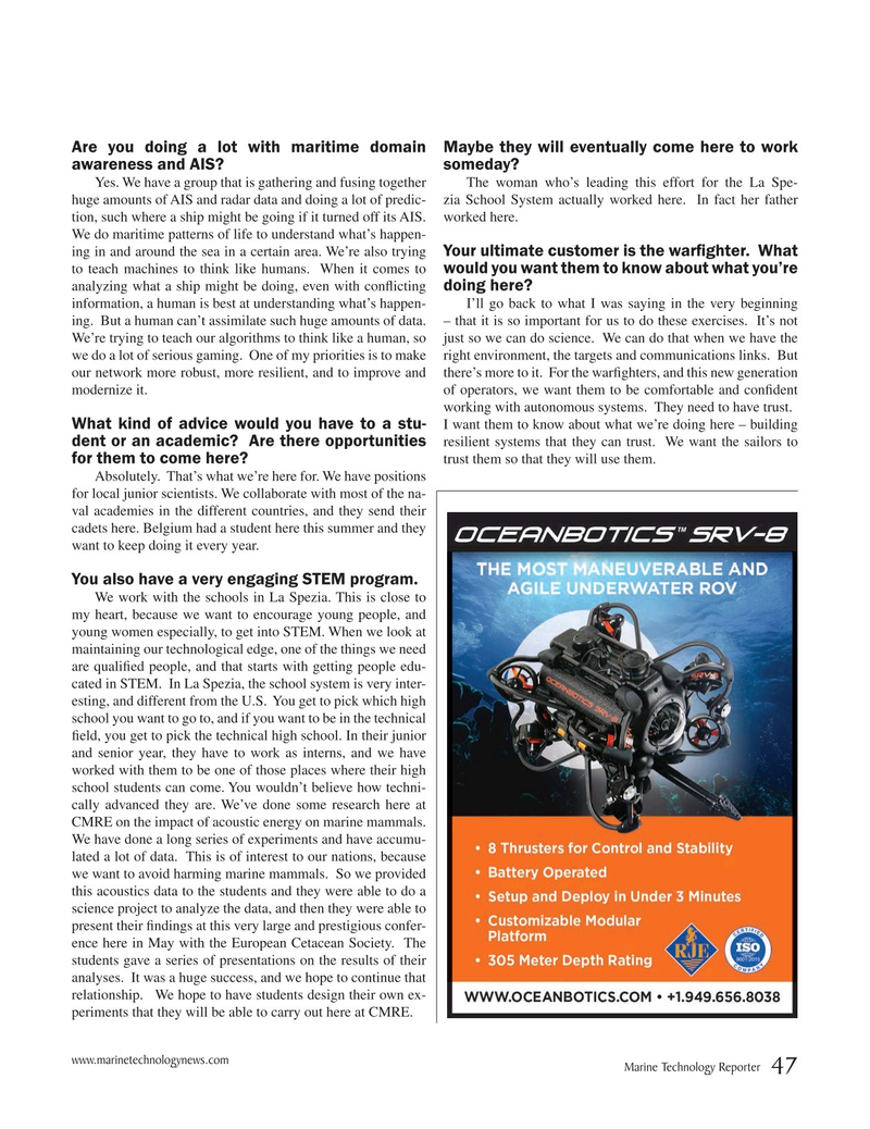 Marine Technology Magazine, page 47,  Sep 2019