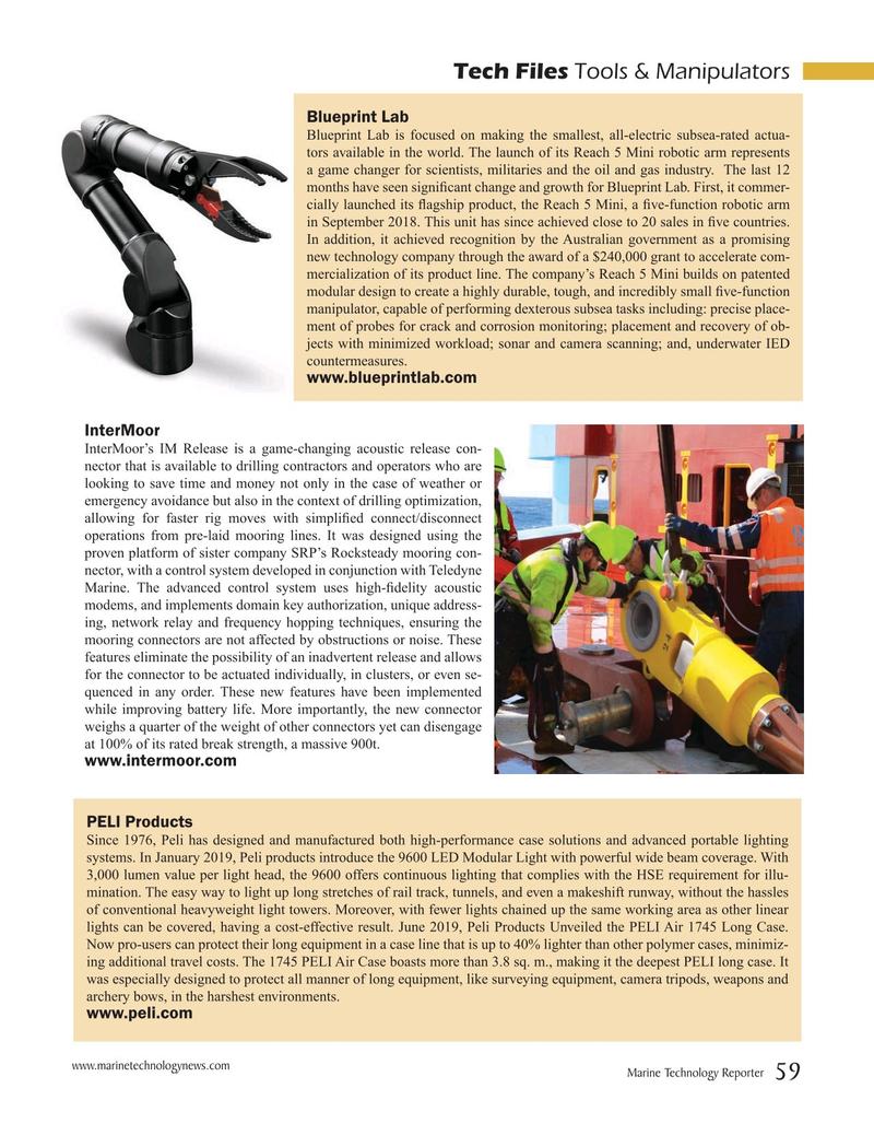 Marine Technology Magazine, page 59,  Sep 2019