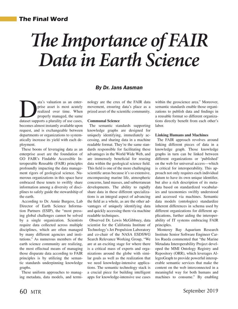 Marine Technology Magazine, page 60,  Sep 2019