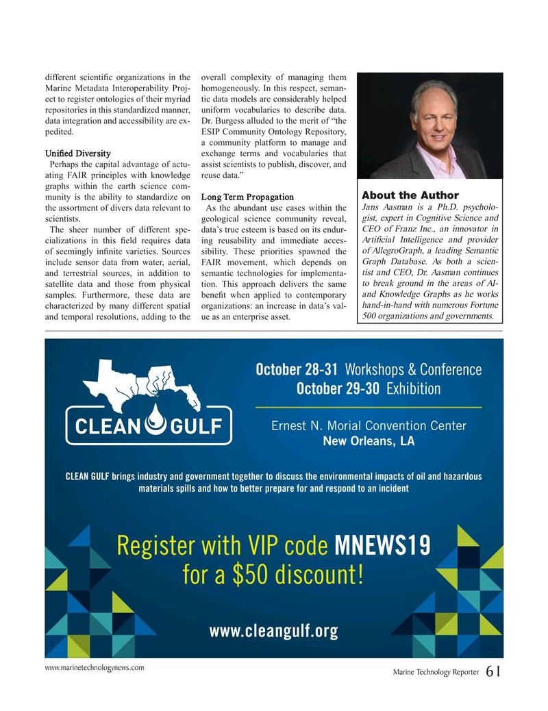 Marine Technology Magazine, page 61,  Sep 2019
