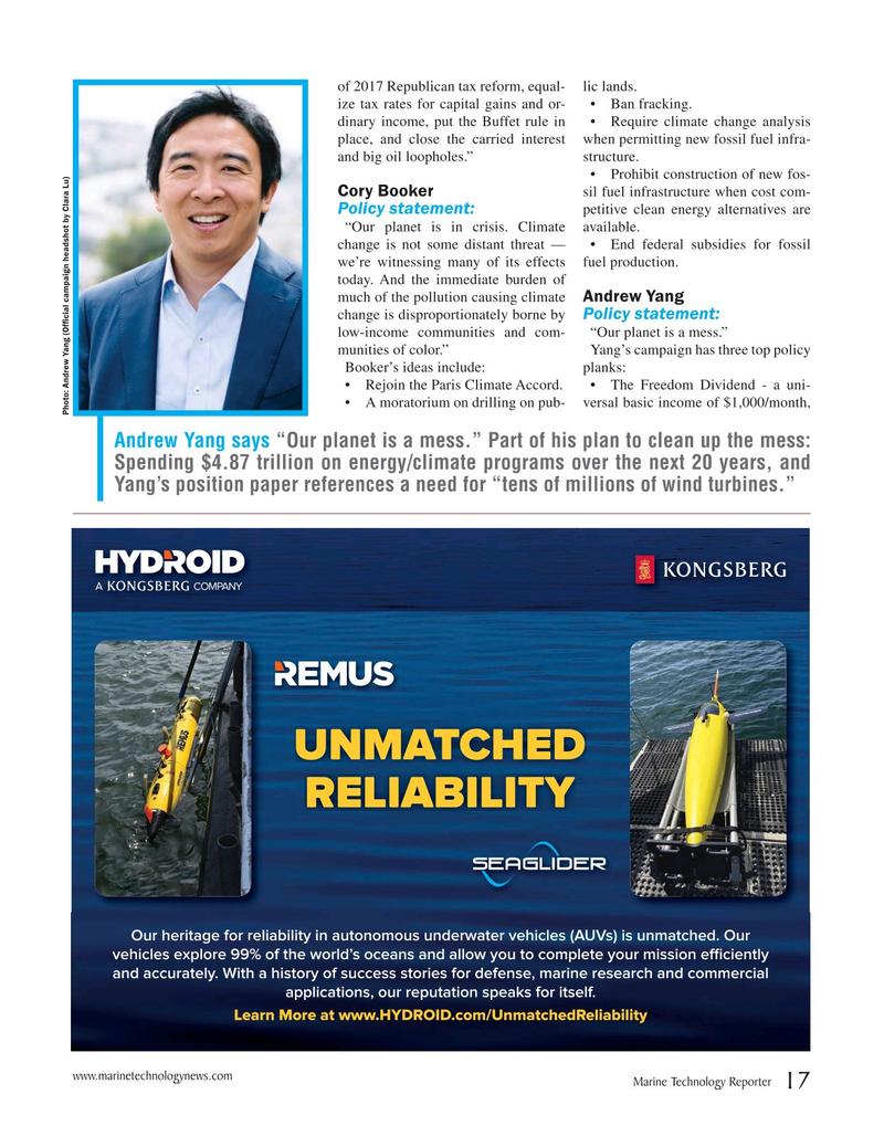 Marine Technology Magazine, page 17,  Oct 2019