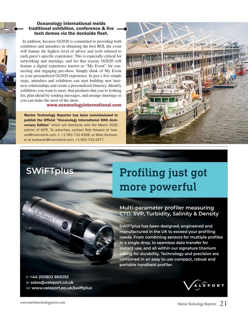 Marine Technology Magazine, page 21,  Oct 2019