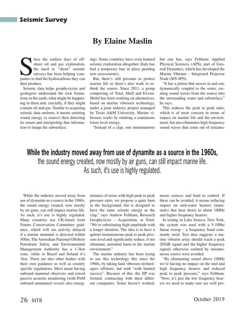 Marine Technology Magazine, page 26,  Oct 2019