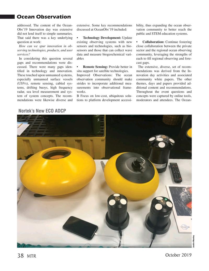 Marine Technology Magazine, page 38,  Oct 2019