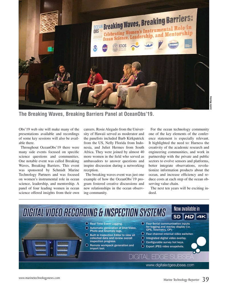 Marine Technology Magazine, page 39,  Oct 2019