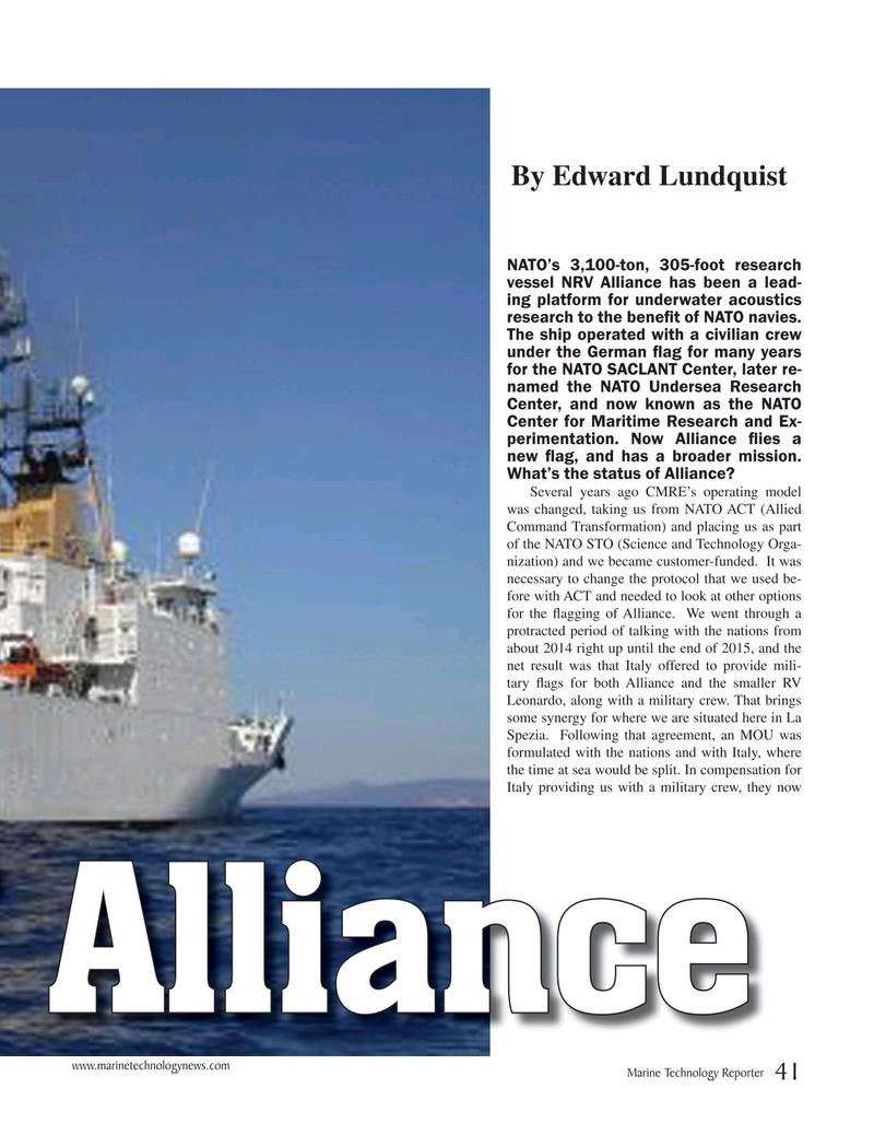 Marine Technology Magazine, page 41,  Oct 2019