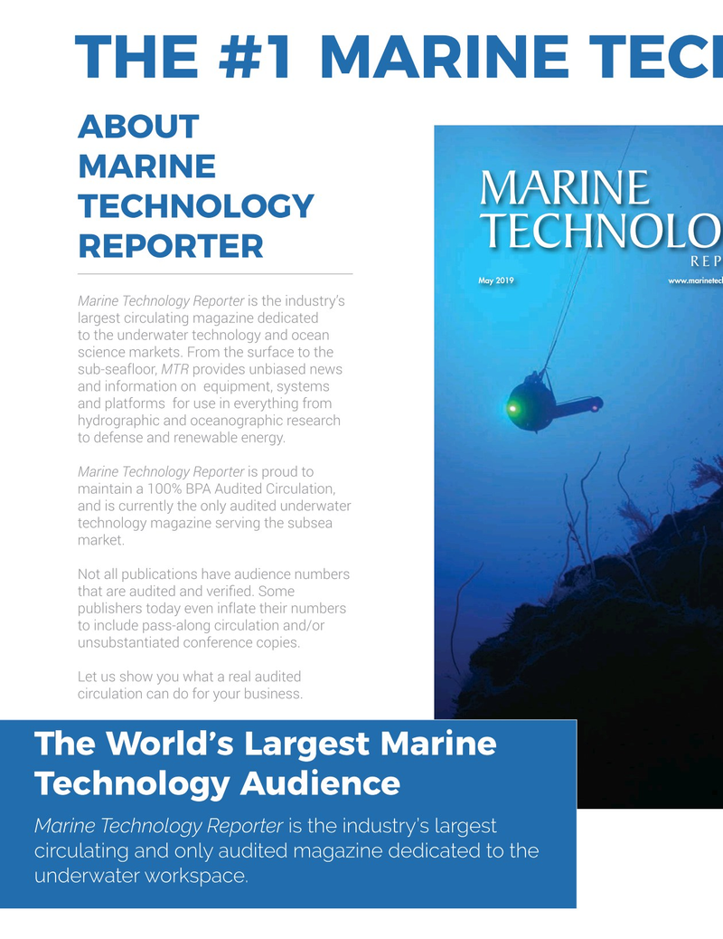 Marine Technology Magazine, page 50,  Oct 2019
