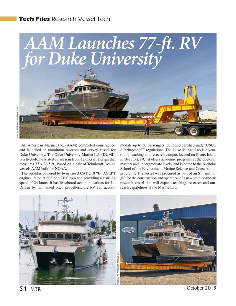 Marine Technology Magazine, page 54,  Oct 2019