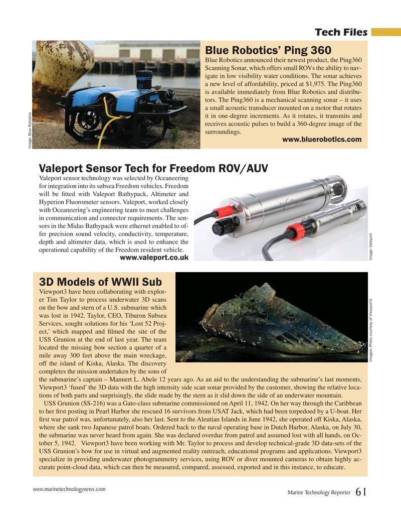 Marine Technology Magazine, page 61,  Oct 2019