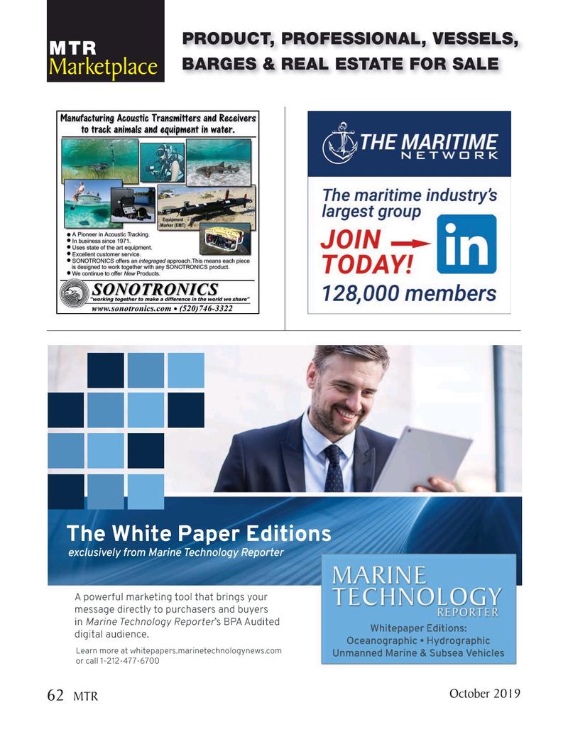 Marine Technology Magazine, page 62,  Oct 2019