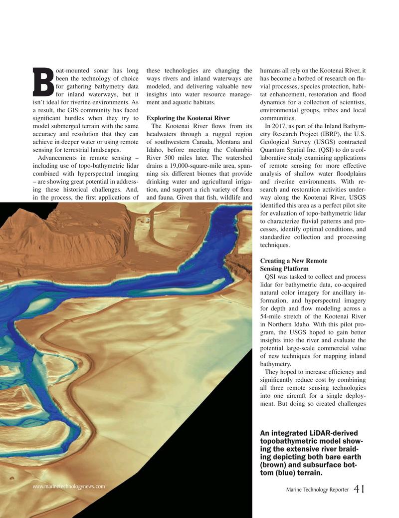 Marine Technology Magazine, page 41,  Nov 2019