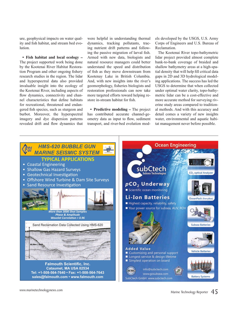 Marine Technology Magazine, page 45,  Nov 2019