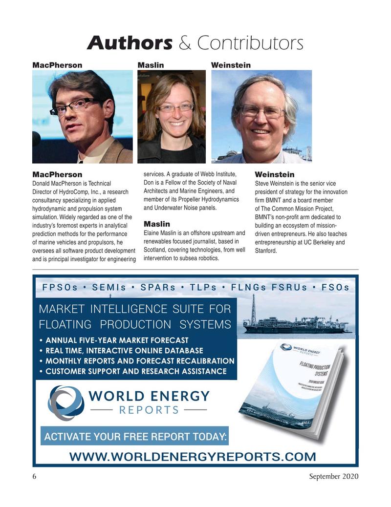 Marine Technology Magazine, page 6,  Sep 2020