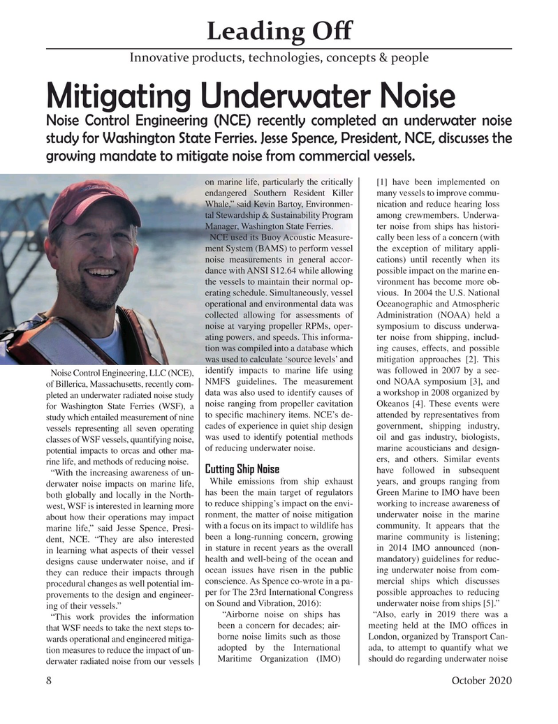 Marine Technology Magazine, page 8,  Oct 2020
