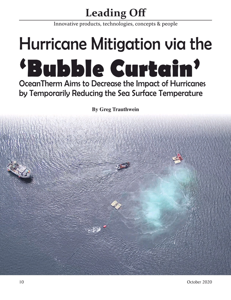 Marine Technology Magazine, page 10,  Oct 2020
