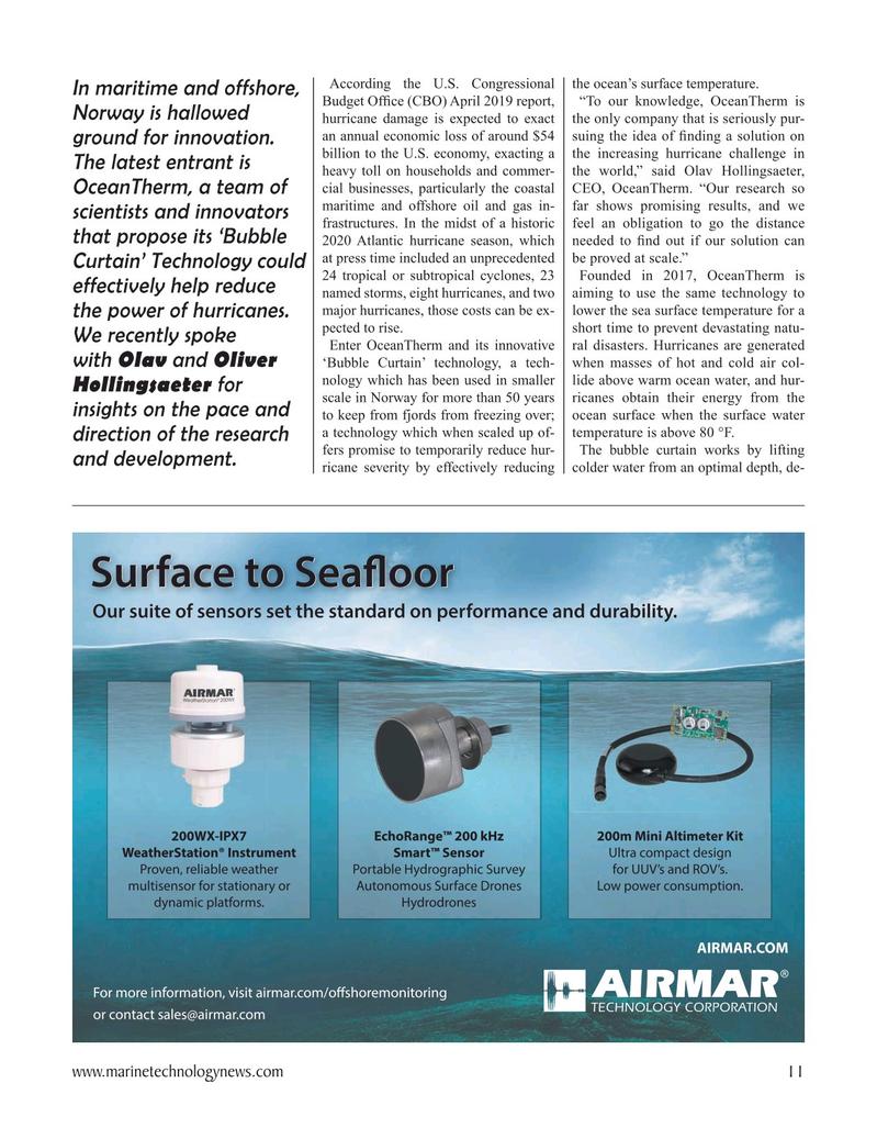 Marine Technology Magazine, page 11,  Oct 2020