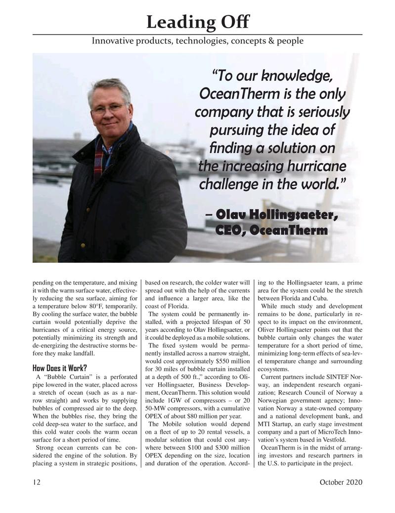 Marine Technology Magazine, page 12,  Oct 2020