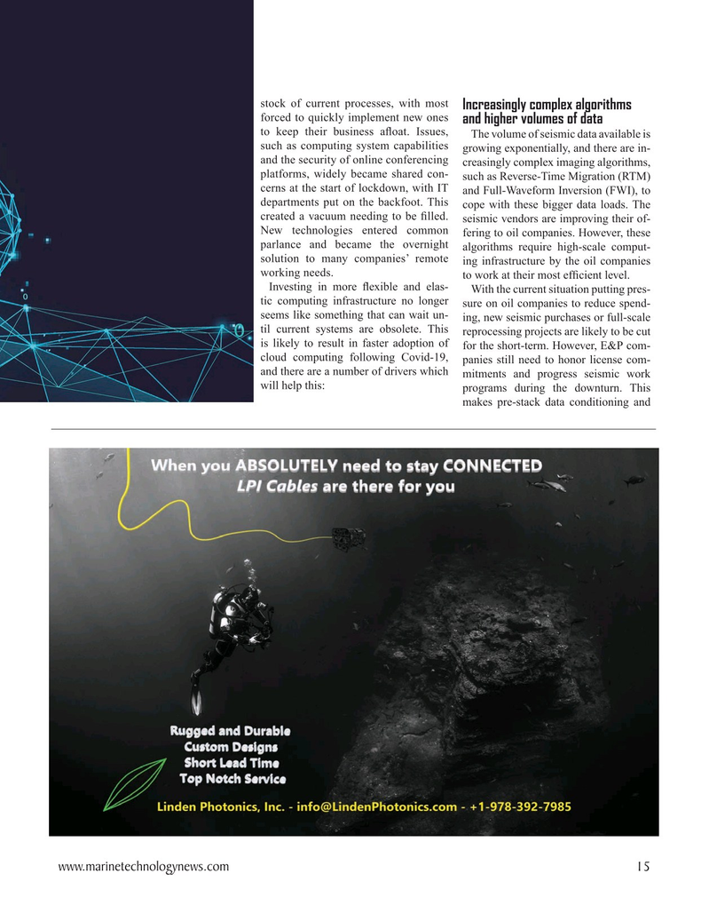 Marine Technology Magazine, page 15,  Oct 2020