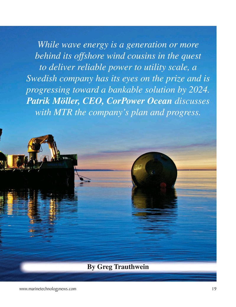 Marine Technology Magazine, page 19,  Oct 2020
