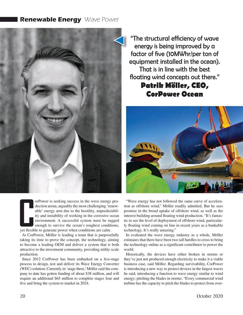 Marine Technology Magazine, page 20,  Oct 2020