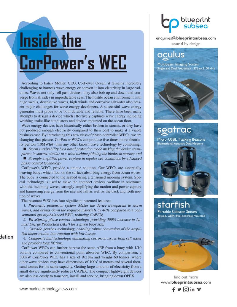 Marine Technology Magazine, page 23,  Oct 2020