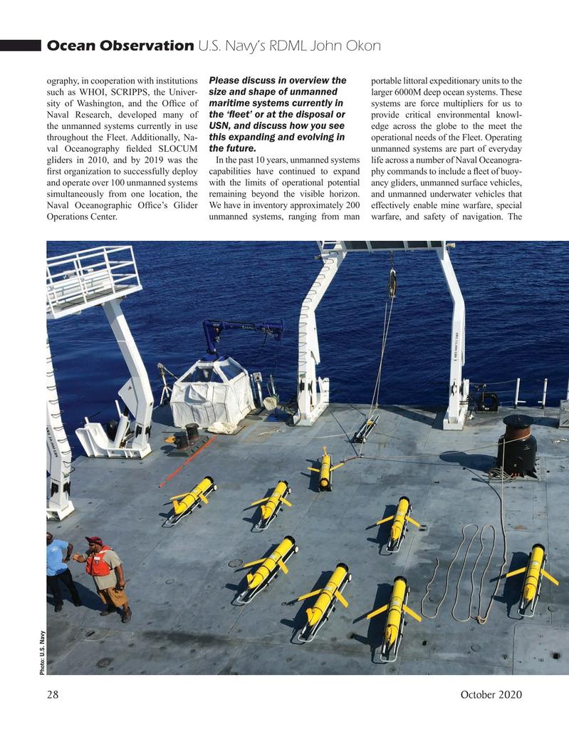 Marine Technology Magazine, page 28,  Oct 2020