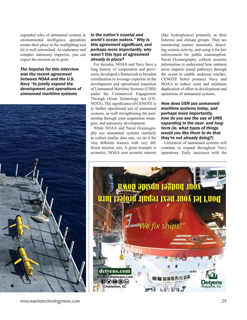 Marine Technology Magazine, page 29,  Oct 2020