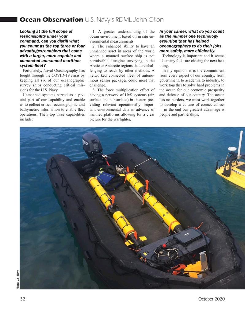 Marine Technology Magazine, page 32,  Oct 2020