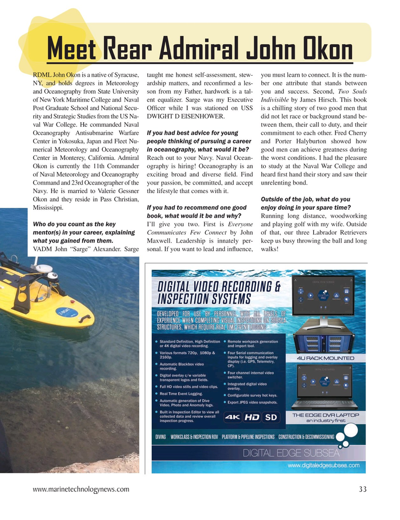 Marine Technology Magazine, page 33,  Oct 2020