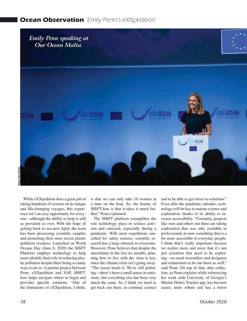 Marine Technology Magazine, page 38,  Oct 2020