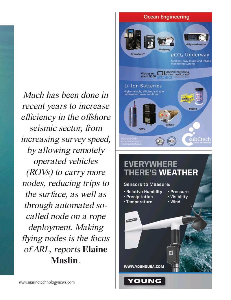 Marine Technology Magazine, page 41,  Oct 2020