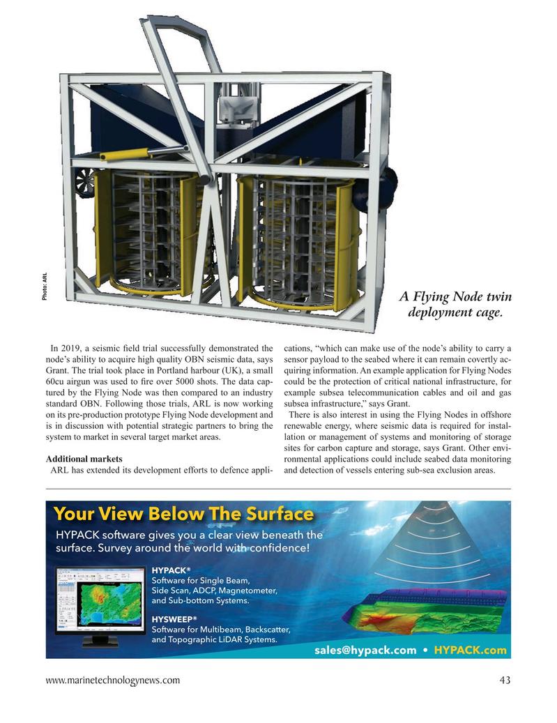 Marine Technology Magazine, page 43,  Oct 2020