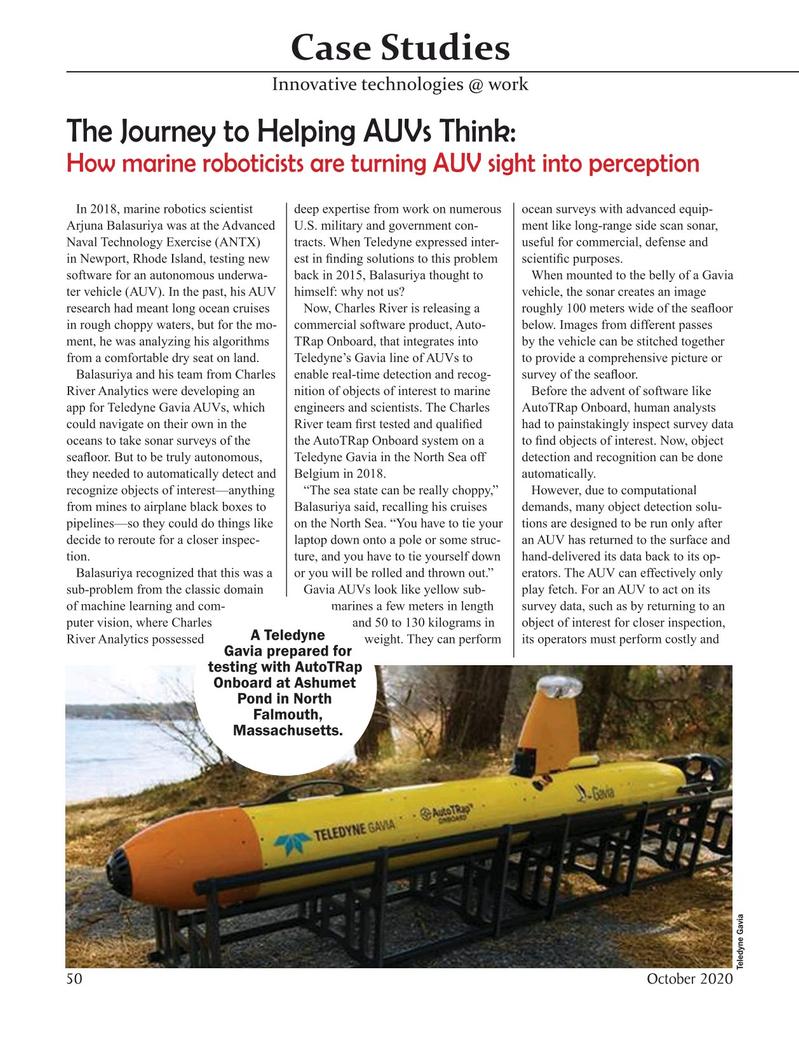 Marine Technology Magazine, page 50,  Oct 2020
