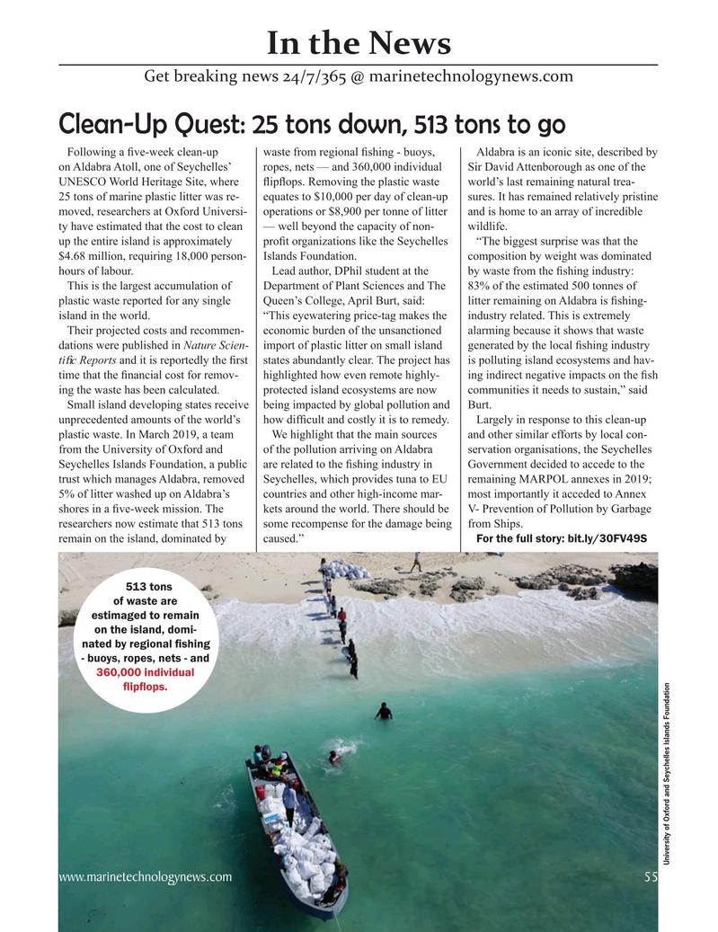 Marine Technology Magazine, page 55,  Oct 2020