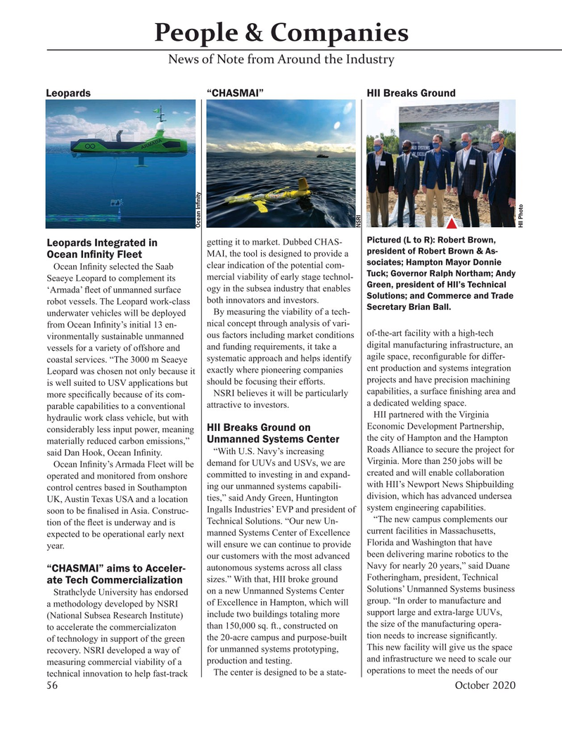 Marine Technology Magazine, page 56,  Oct 2020