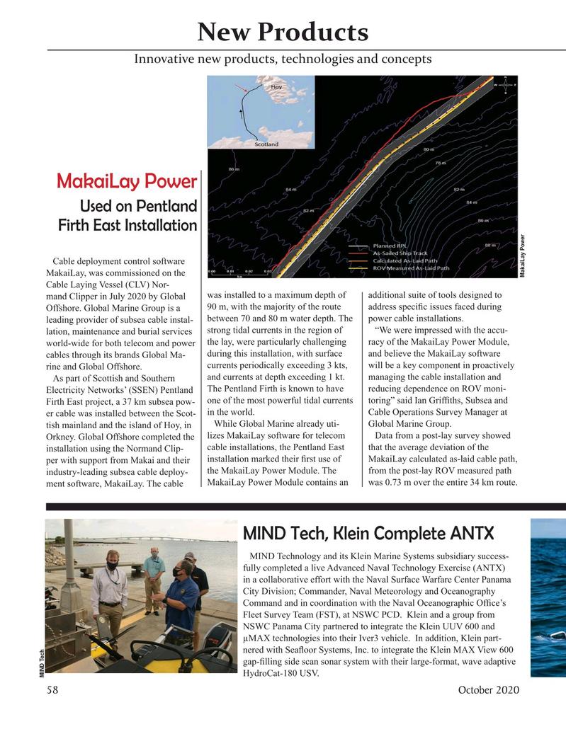Marine Technology Magazine, page 58,  Oct 2020