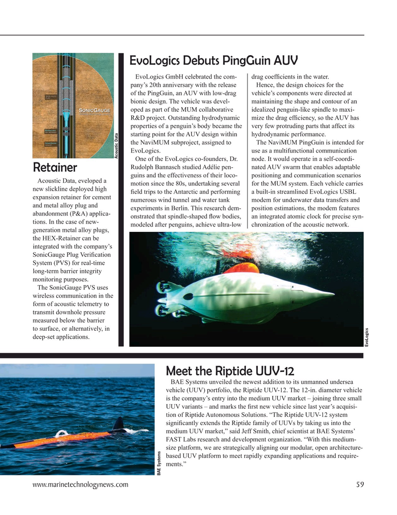 Marine Technology Magazine, page 59,  Oct 2020