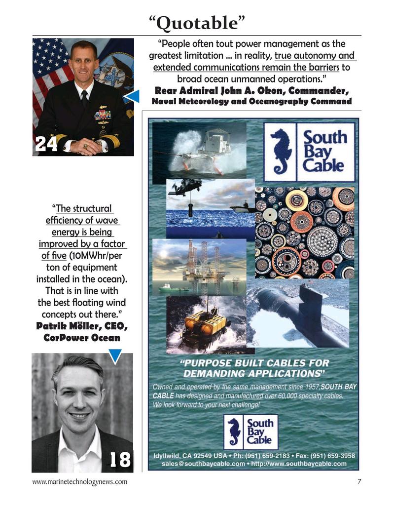 Marine Technology Magazine, page 7,  Oct 2020